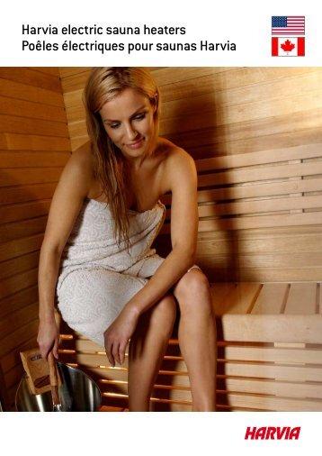 Harvia electric sauna heaters Poêles électriques pour saunas Harvia