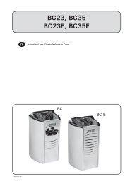 BC23, BC35 BC23E, BC35E - Harvia