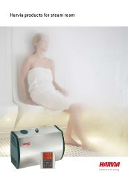 Harvia products for steam room