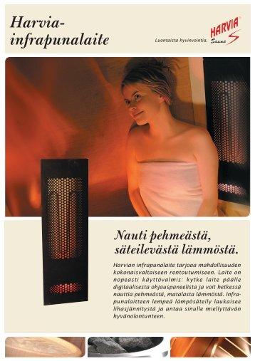 Harvia-infrapunalaite – Nauti pehmeästä, säteilevästä lämmöstä.