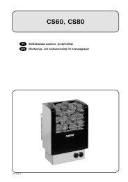 Asennus- ja käyttöohje - Harvia