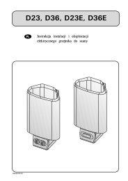 Instrukcje montażu i użytkowania - Harvia