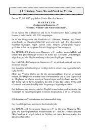 Satzungen - Harzklub Zweigverein Hannover e. V.