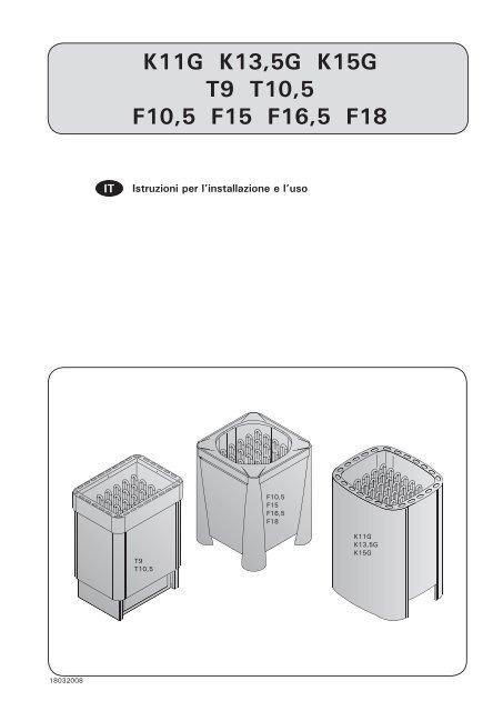 K11G K13,5G K15G T9 T10,5 F10,5 F15 F16,5 F18 - Harvia
