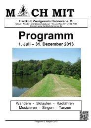 Programmheft 02/2013 zum Download - Harzklub Zweigverein ...