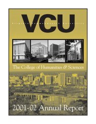 2001-02 Annual Report - College of Humanities and Sciences ...
