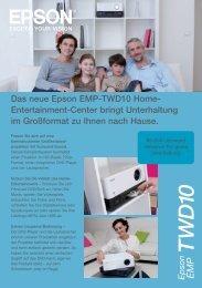 Das neue Epson EMP-TWD10 Home- Entertainment ... - Werner