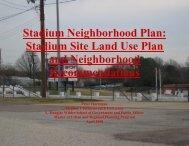 Stadium Neighborhood Plan - Virginia Commonwealth University