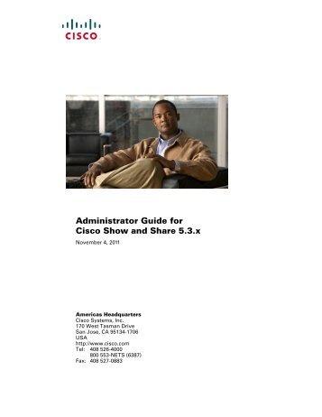 Cisco S&S Admin Manual