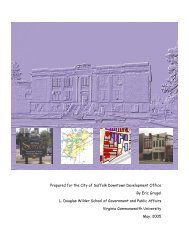 Downtown Suffolk Revitalization Plan through Arts - College of ...