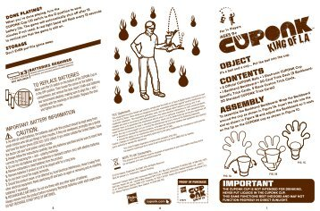 Cuponk King of LA 27479 Instructions - Hasbro