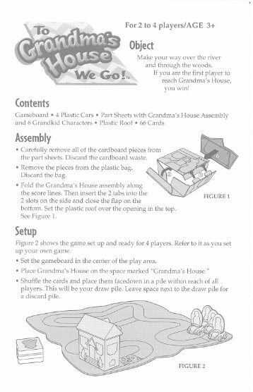 Grandma's House We Go Instructions - Hasbro