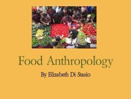 Food Anthropology - College of Humanities and Sciences