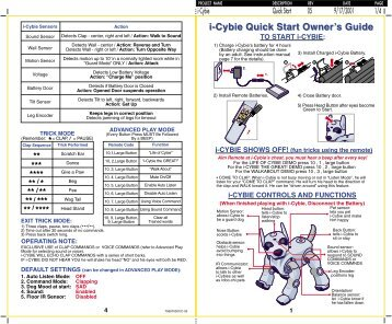 i-Cybie Quick Start Owner's Guide - Hasbro