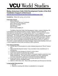 Bettye Ackerman-Cobb Child Development Center of the DLA ...