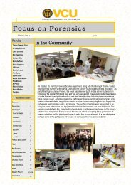 Focus on Forensics - College of Humanities and Sciences - Virginia ...