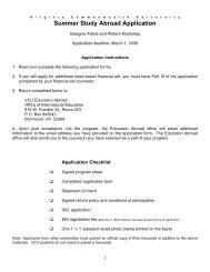 Summer Study Abroad Application