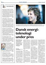 Dansk energi- teknologi under pres - DBDH