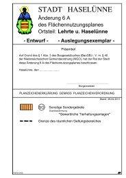 Begründung mit Umweltbericht zur Änderung Nr ... - Stadt Haselünne
