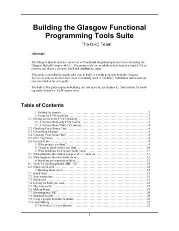 Building the Glasgow Functional Programming Tools Suite - Haskell