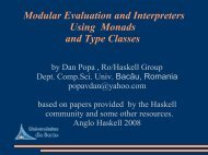 Modular Evaluation and Interpreters Using Monads and ... - Haskell