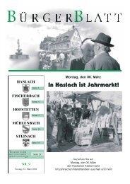 Montag, den 06. März - Haslach