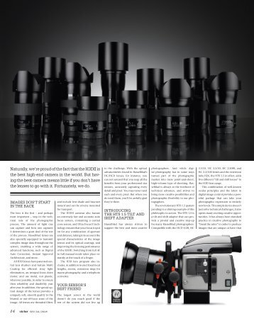 naturally, we're proud of the fact that the H3dii is the ... - Hasselblad