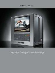 Hasselblad CFII Digital Camera Back Range