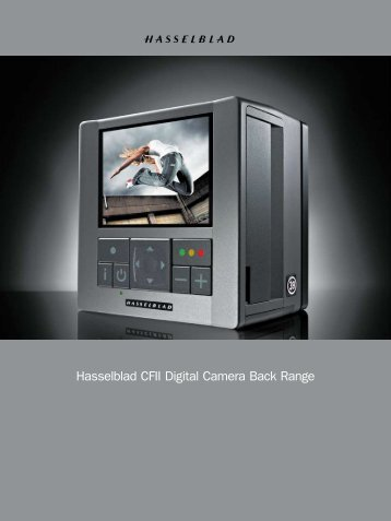 Hasselblad CFII Digital Camera Back Range