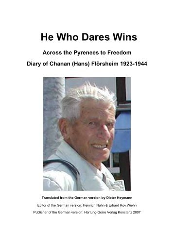 He Who Dares Wins - Hassia Judaica