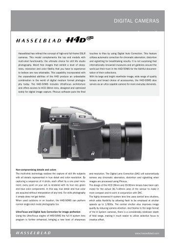 digital CaMERaS - Hasselblad
