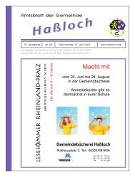 Tel. - Gemeinde Haßloch