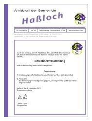 Donnerstag, den 14.11.2013 - Gemeinde Haßloch