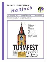 16. Juni 2013 - Gemeinde Haßloch