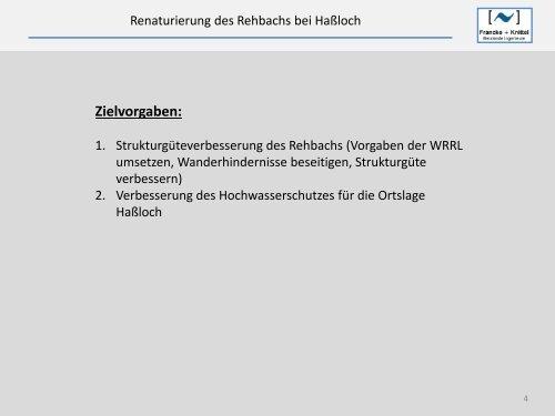 Renaturierung des Rehbachs bei Haßloch