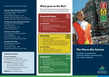 The Three-Bin System What goes in the Bin? - Hastings Council