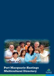 Port Macquarie-Hastings Multicultural Directory - Hastings Council