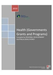 Health (Governments Grants and Programs)