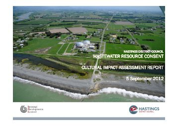 WASTEWATER RESOURCE CONSENT CULTURAL IMPACT ...