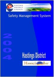 Safety Management System - Hastings District Council
