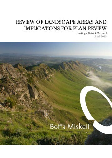 Review of Landscape Areas and Implications for Plan Review, Boffa ...