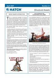 Structural Assets Newsletter #21, April 2007 [pdf, 249 KB] - Hatch