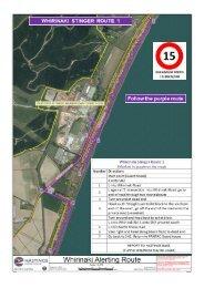 Coastal area alerting routes
