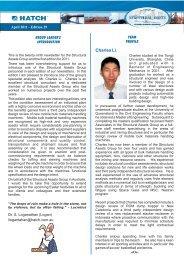 Structural Assets Newsletter #29, April 2011 [pdf, 583 KB] - Hatch