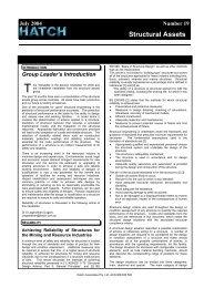 Structural Assets Newsletter #19, July 2004 [pdf, 177 KB] - Hatch