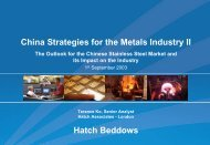 China Strategies For The Metals Industry II - Hatch