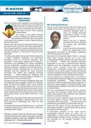 Structural Assets Newsletter #26, December 2009 [pdf, 1.03 ... - Hatch