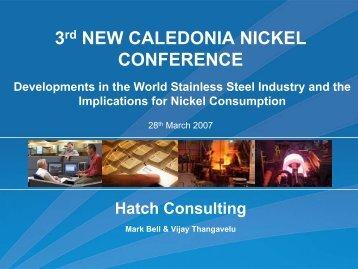 Presentation: Developments in the World Stainless Steel ... - Hatch