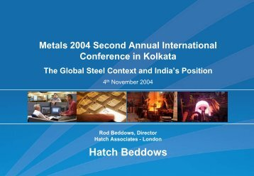 Presentation: The Global Steel Context and India's Position ... - Hatch