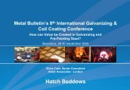 Presentation: How can Value be Created in Galvanizing and ... - Hatch